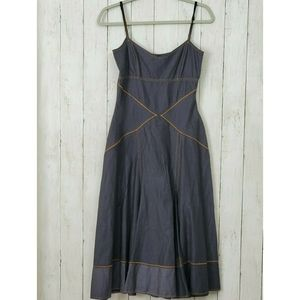 Boston Proper Denim Dress Sleeveless Western 2